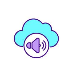 online music storage service rgb color icon vector image
