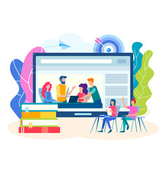 online training group lessons seminars vector image