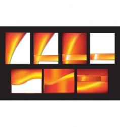 orange abstract vector image vector image