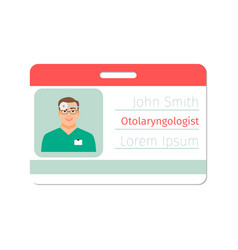 Otolaryngologist medical specialist badge vector