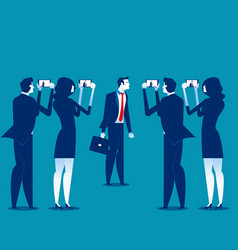 Photography business person take pictures vector