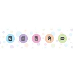 Press icons vector