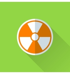 Radiation flat icon vector image