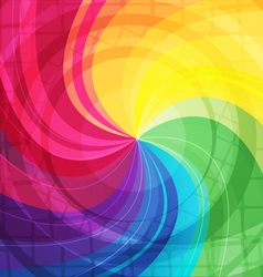 Rainbow bright background with rays6 vector image