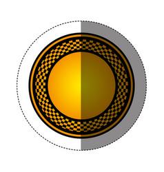 Round symbol emblem icon vector