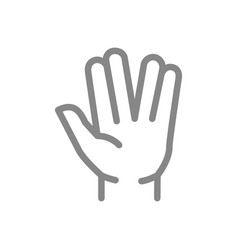 Salute line icon what s up gestures symbol vector