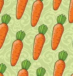 seamless cute shiny carrots pattern vector image