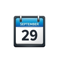 September 29 Calendar icon vector image