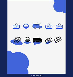Set icons for 5 vector