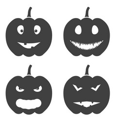 set of halloween pumpkin icons on white vector image