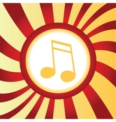 Sixteenth note abstract icon vector
