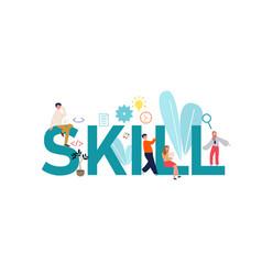Skills concept idea self vector