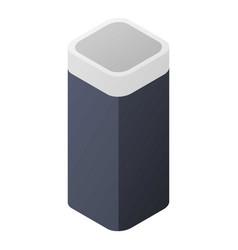 Smart speaker icon isometric style vector