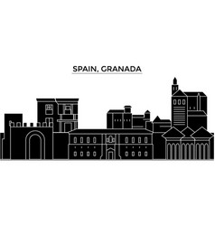 Spain granada architecture city skyline vector