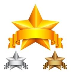 Star Award with Ribbon vector image vector image
