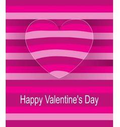 Striped background in pink tones with surround hea vector