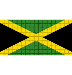 The mosaic flag of Jamaica vector