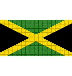 The mosaic flag of Jamaica vector
