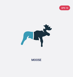 two color moose icon from animals concept vector image