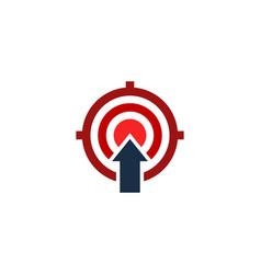upload target logo icon design vector image