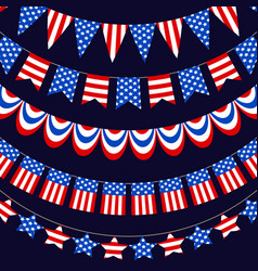usa flag warp ribbons vector image