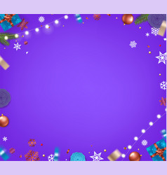 violet christmas background xmas elements on vector image