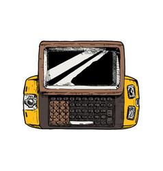 wide slider phone vector image
