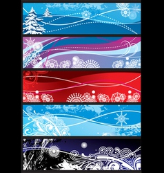 winter snowflakes ornaments vector image