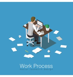 Working and studying concept vector image