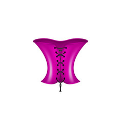 corset in purple and black design vector image