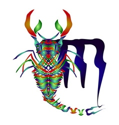 Horoscope Scorpio vector image