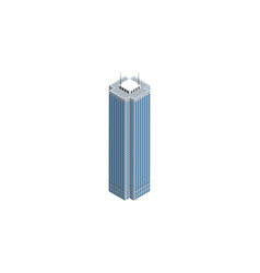 isolated business center isometric skyscraper vector image vector image