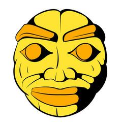 stone face icon cartoon vector image vector image