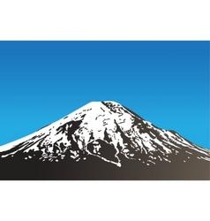 dormant volcano vector image
