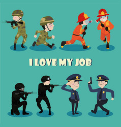 i love my job vector image vector image