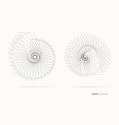 abstract dark lines vector image vector image