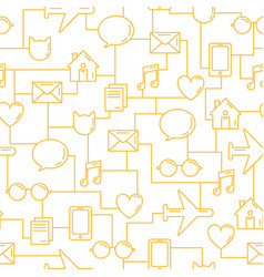 business seamless pattern communications vector image