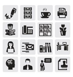 office and business vector image vector image