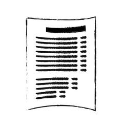 paper document with lines icon image vector image vector image