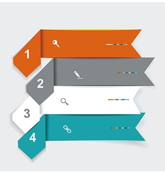 Step Lines Set Web Banners Origami vector image