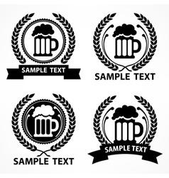 Stylized mug of beer wreath vector image vector image