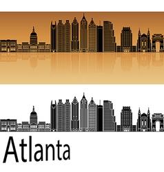 Atlanta V2 skyline in orange vector image vector image