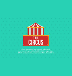 circus and amusement park theme collection vector image vector image