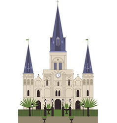 Louis cathedral vector