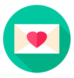 love envelope circle icon vector image vector image