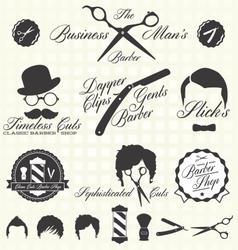 Vintage Barber Shop Labels vector image vector image