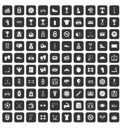 100 boxing icons set black vector