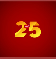 25 years anniversary celebration logo template vector
