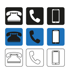 a set phone icons simple vector image