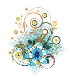 Abstract flower with circles vector